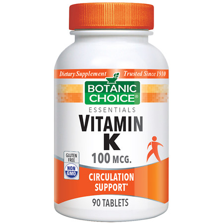Botanic Choice Vitamin K 100 mcg Dietary Supplement Tablets - 90.0 Each