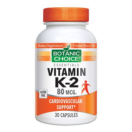 Botanic Choice Vitamin K-2 80 mcg Dietary Supplement Capsules - 30.0 ea