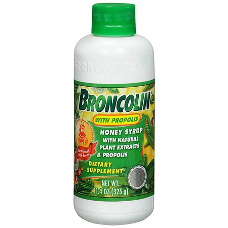 Broncolin Honey Syrup Dietary Supplement with Propolis - 11.4 Ounces
