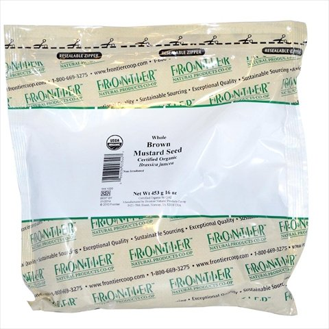 Bulk Mustard Seed Brown Whole CERTIFIED ORGANIC 1 lb. package