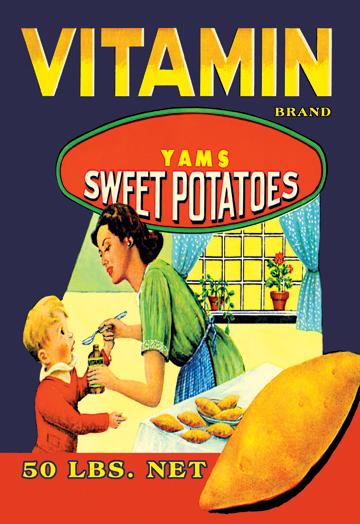 Buy Enlarge 0-587-12876-3P20x30 Vitamin Brand Yams- Paper Size P20x30