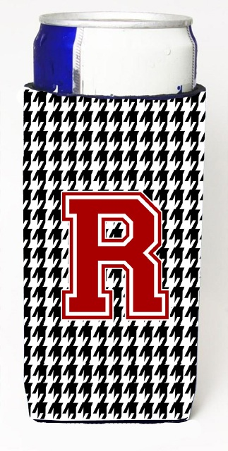 CJ1021-RMUK Houndstooth Monogram Letter R Michelob Ultra s For Slim Cans