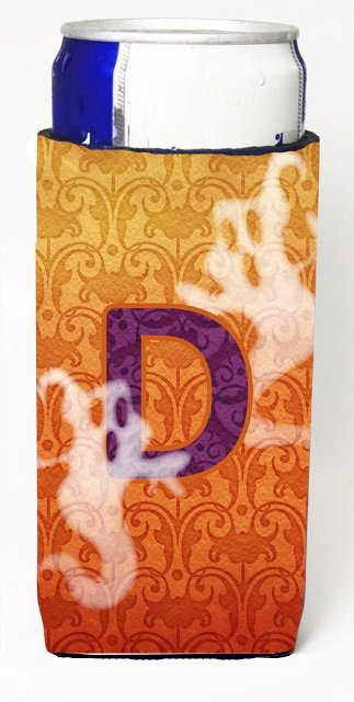 CJ1040-DMUK Halloween Ghosts Monogram Initial Letter D Michelob Ultra s For Slim Cans