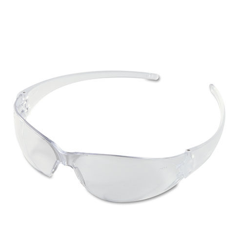 CK110BX Checkmate Wraparound Safety Glasses, Clear Polycarbonate Frame, Clear Lens