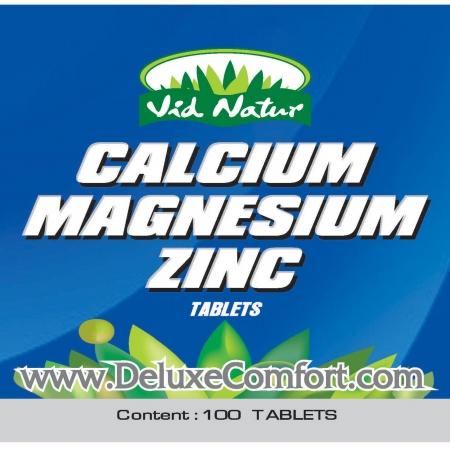 CMZ-004-01 Calcium Magnesium Zinc 100 Tablets