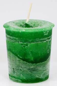 CVHMON Money Herbal Votive Candle in Green