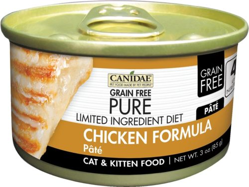 Canidae CD10134 3 oz Grain-Free Ingredient Diet Pate with Chicken Canned Cat Food