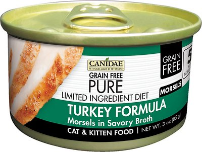Canidae CD10150 Grain-Free Ingredient Diet Morsels with Turkey Canned Cat Food