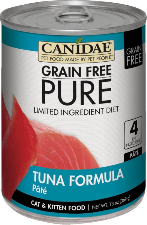 Canidae CD10178 13 oz Grain-Free Ingredient Diet Pate with Tuna Canned Cat Food