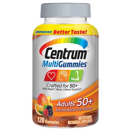 Centrum Adults 50+ MultiGummies Multivitamin & Multimineral Supplement - 120.0 ea