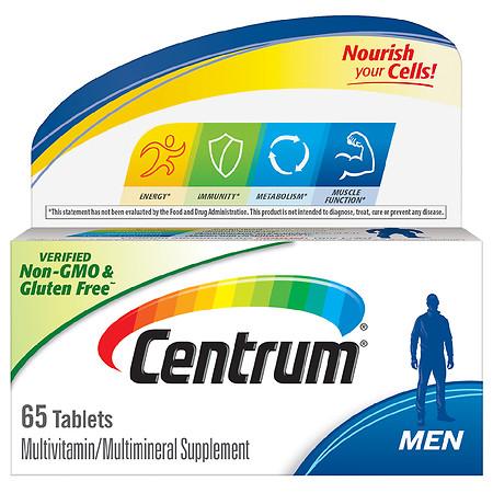 Centrum Men Multivitamin/Multimineral Supplement Tablets - 65.0 ea