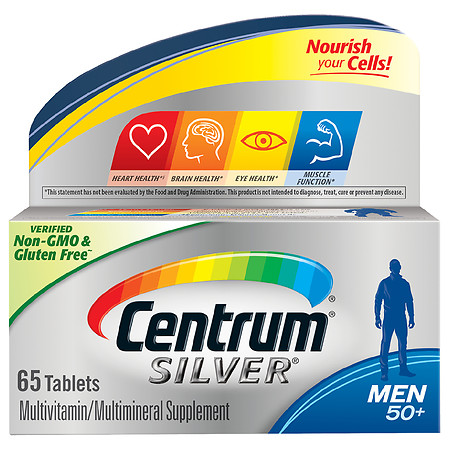 Centrum Silver Complete Multivitamin & Multimineral Supplement Tablet, Men Age 50+ - 65.0 ea