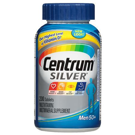 Centrum Silver Men Complete Multivitamin & Multimineral Supplement Tablet, Age 50 Plus - 200.0 ea