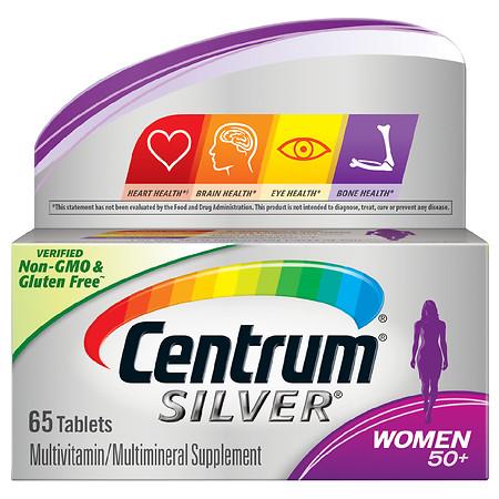 Centrum Silver Women Complete Multivitamin & Multimineral Supplement Tablet, Age 50 Plus - 65.0 ea