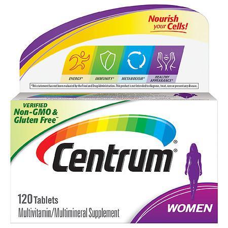 Centrum Women Complete Multivitamin & Multimineral Supplement Tablet - 120.0 ea
