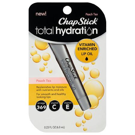 ChapStick Total Hydration Vitamin Enriched Lip Oil Peach Tea - 0.23 fl oz