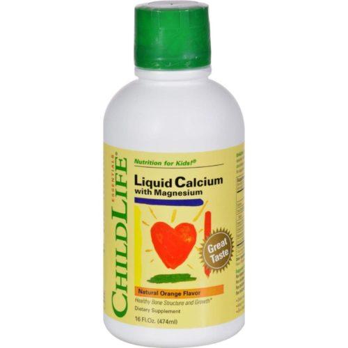 Child Life HG0690636 16 fl oz Liquid Calcium with Magnesium - Natural Orange