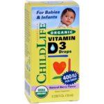 Child Life HG1278431 0.33 oz Organic Vitamin D3 Drops for Babies & Infants - Natural Berry