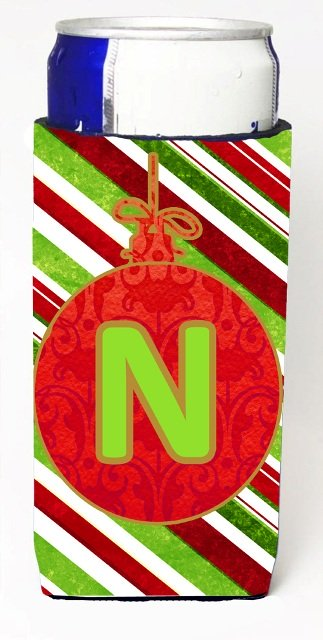 Christmas Ornament Holiday Monogram Initial Letter N Michelob Ultra s For Slim Cans