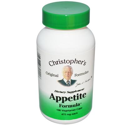 Christopher's Appetite Formula - 475 mg - 100 Vegetarian Capsules