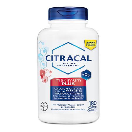 Citracal Maximum Plus Calcium Citrate With Vitamin D3 Caplets - 180.0 ea