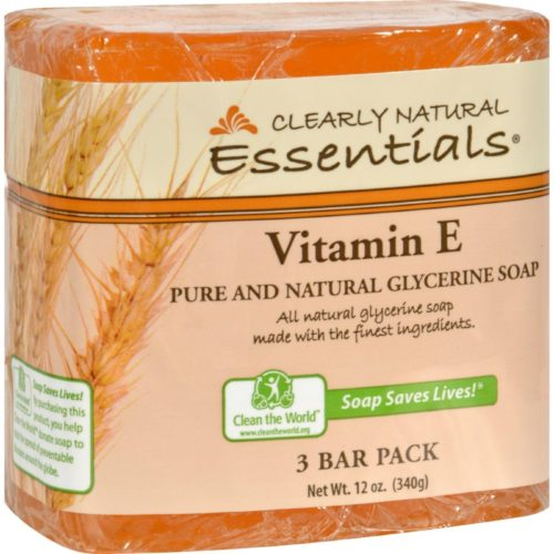 Clearly Natural HG1170497 4 oz Vitamin E Bar Soap, Pack of 3