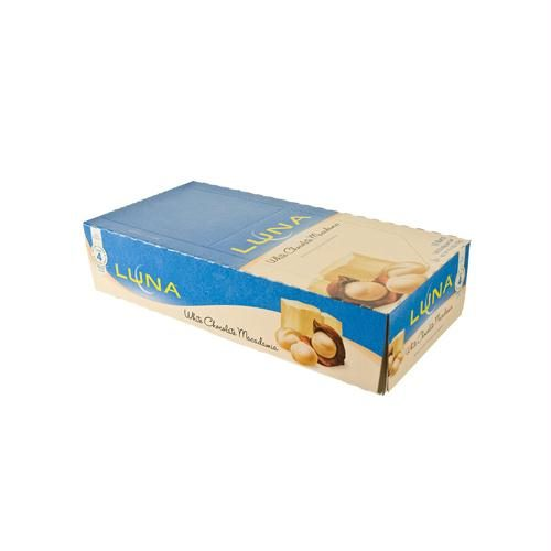 Clif Bar 653824 Clif Bar Luna Bar - Organic White Chocolate Macadamia Nut - Case of 15 - 1.69 oz