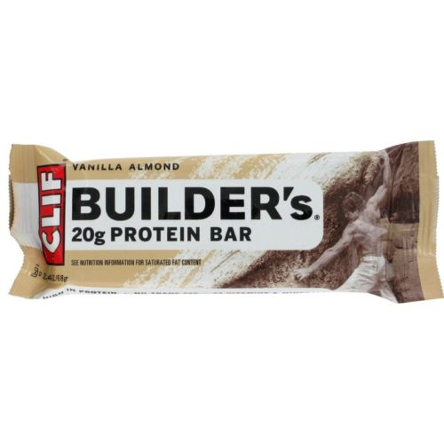 Clif Bar HG0104927 2.4 oz Vanilla Almond Builder Bar - Case of 12