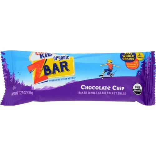 Clif Bar HG0807917 1.27 oz Organic Chocolate Chip Zbar - Case of 18