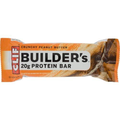 Clif Bar HG1082940 2.4 oz Crunchy Peanut Butter Builder Bar - Case of 12