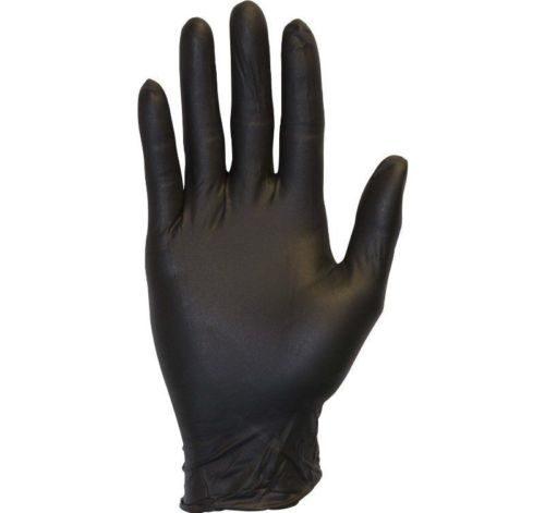 CompleteMedical 1029A Nitrile Exam Gloves Black Powder-Free, Small Box Per 100