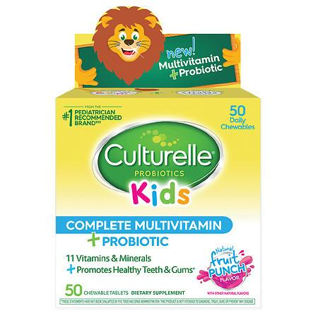 Culturelle Kids Complete Multivitamin Chewable Tablets Natural Fruit Punch - 50.0 ea