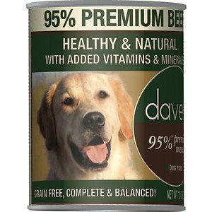 DP11199 Daves 95 Premium Meats Beef Recipe Can Dog Food