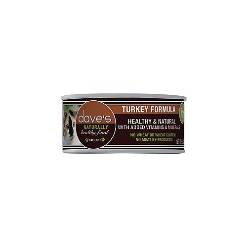 DP11372 Daves Naturally Healthy Turkey Can Cat Food - Pack of 24