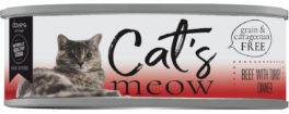DP11714 5.5 oz Cats Meow Beef with Turkey Dinner - Case of 254