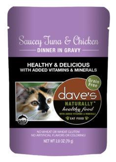 DP11760 2. 8 oz Cat Saucy Tuna & Chicken Gravy, Case of 24