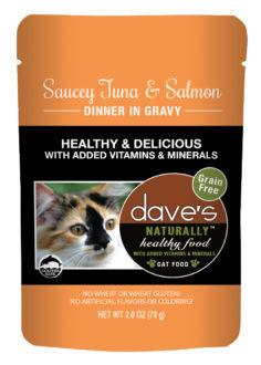 DP11762 2.8 oz Cat Saucy Tuna & Salmon Gravy, Case of 24