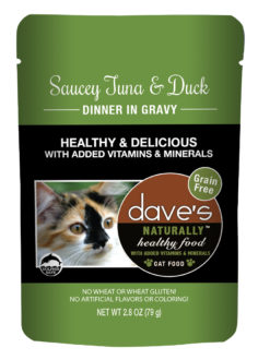 DP11764 2.8 oz Saucey Tuna & Duck Dinner Gravy, Case of 24