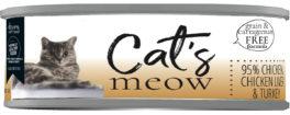 DP11791 5.5 oz Cats Meow 95 Percent Chicken, Chicken Liver & Turkey - Case of 24