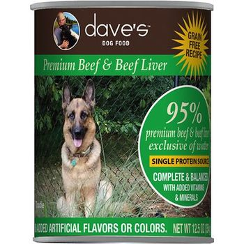 DP11803 13 oz - 95 Percent Premium Beef & Beef Liver Canned Dog Food - Case of 12