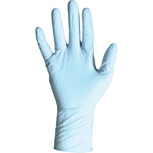 DVM8648S Disposable Nitrile PF Exam Glove, Small - Blue
