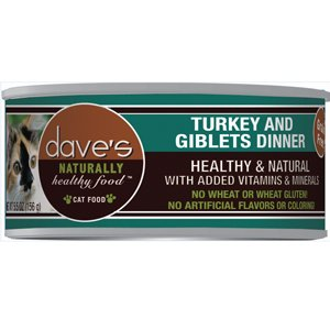 Daves Naturally Healthy DP11324 Naturally Healthy Turkey Giblet Cat, 12 - 13 oz.