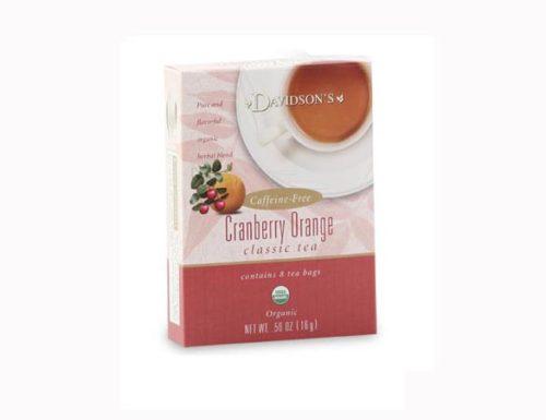 Davidson Organic Tea 2128 Cranberry Orange Tea, Box of 8