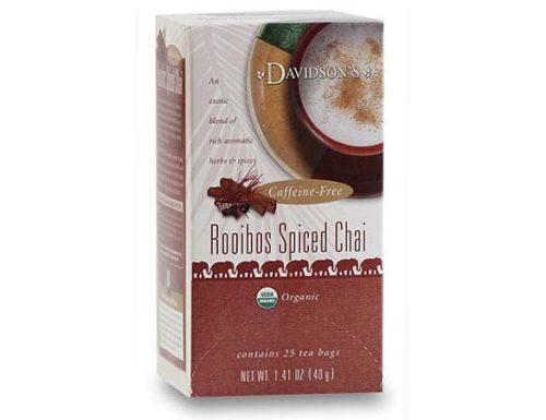 Davidson Organic Tea 2547 Rooibos Spiced Chai Tea, Box of 25 Tea Bags