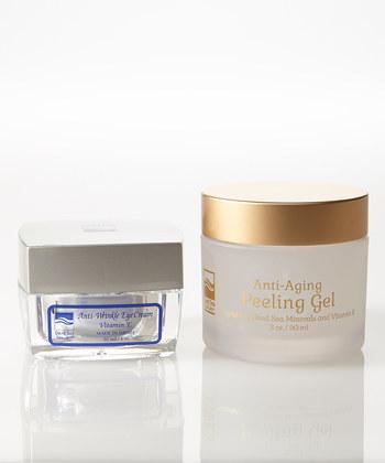 DeadSea-1021 1 oz Anti-Wrinkle Eye Cream, 3 oz New Anti-Aging Peeling Gel