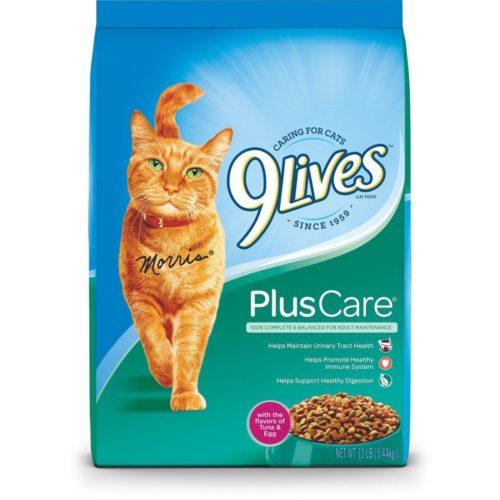 Delmon 799168 12 lbs 9Lives Plus Care Dry Cat Food