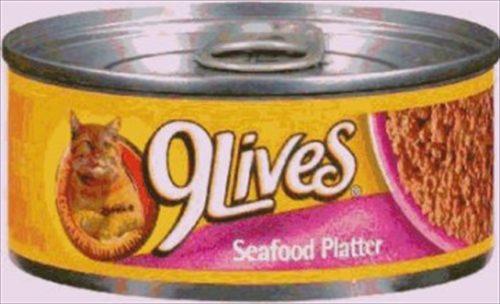 Delmonte Foods Llc 799139 9Lives Seafood Platter 24-5.5 Oz. Pack of 24