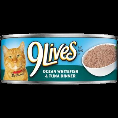 Delmonte Foods Llc 799187 9Lives Ocn Whitefsh-Tuna 6-4-5.5 Oz. Pack of 6