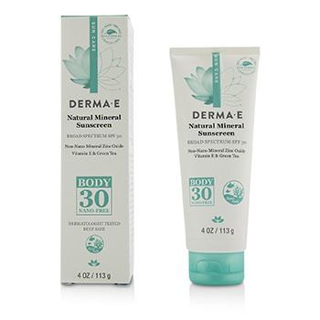 Derma E 218463 4 oz Natural Mineral Sunscreen Broad Spectrum SPF 30 - Body