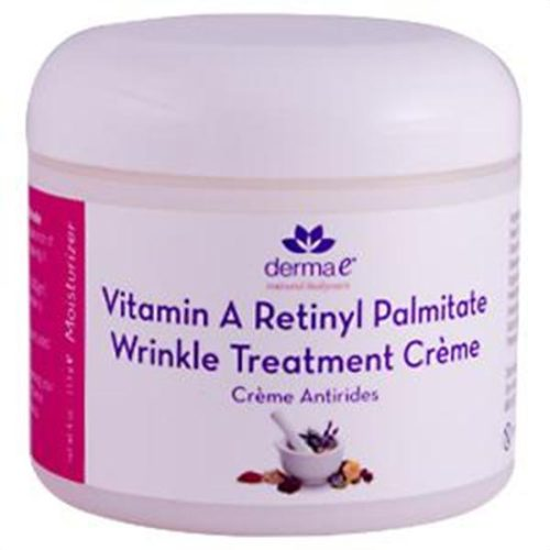 Derma E Facial Moisturizer Vitamin A Retinyl Palmitate Wrinkle Treatment Creme 4 oz. 211030